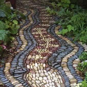 Mozaik vrt pot