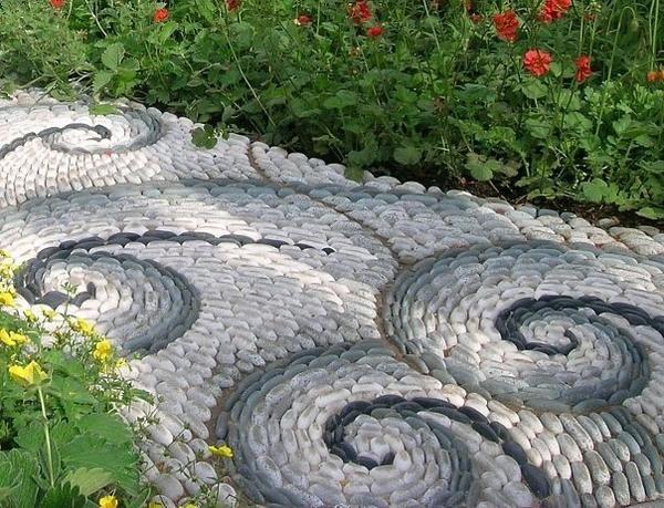 Vrt pot iz kamenčkov
