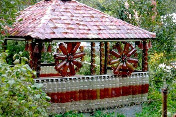 vrtno pohištvo iz steklenic