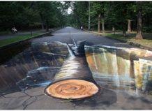 3D-рисунки на парковых дорожках