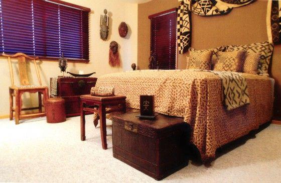 Afriški prsnega koša v notranjosti spalnico