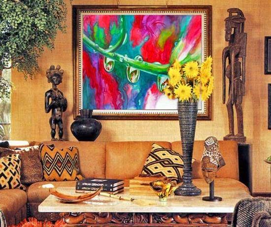 Notranja soba v afriškem slogu