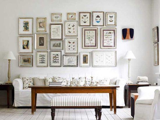 Bele stene v retro notranjosti