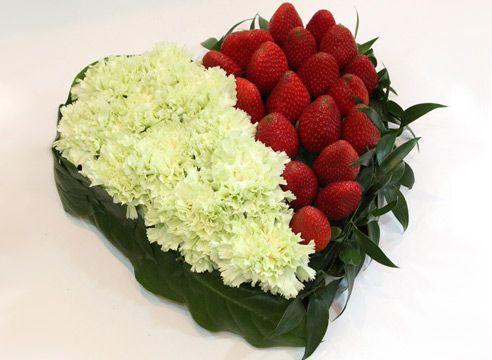 Flower sestavek s jagode
