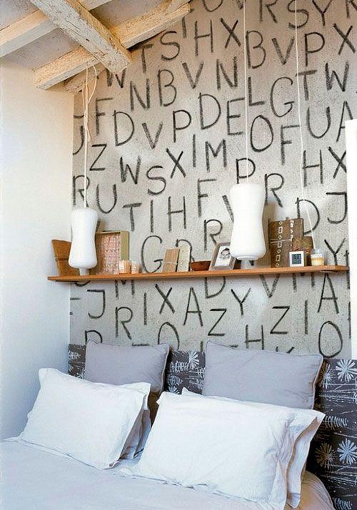 Grafiti v notranjosti spalnico