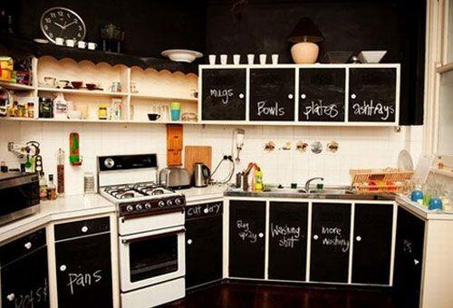 Na so omarice vpisane v notranjosti kuhinje