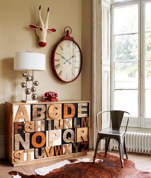Notranje črke na pohištvo