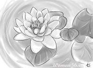 Cvetje sestavljen s svinčnikom