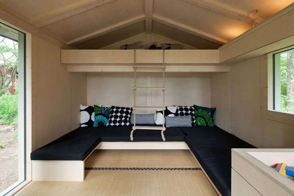 Dormitorul pentru cinci persoane. dormitor de dimensiuni mici