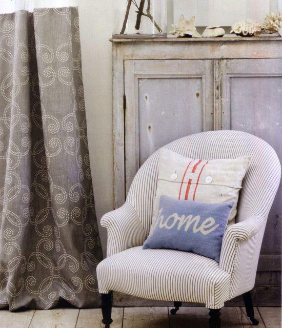 Tekstil v vintage notranjosti