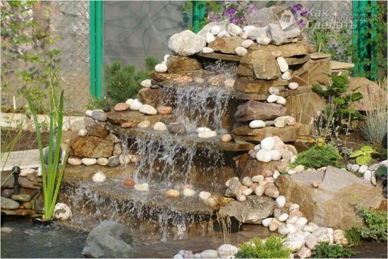 Делаем водопад на даче своими руками: пошаговая инструкция