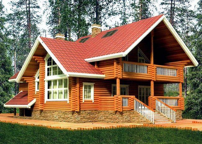 Prijetna hiša iz lesa