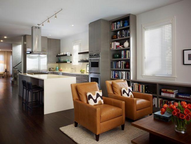Zasnova dnevna soba kuhinjo