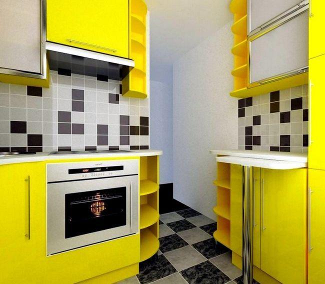 Zasnova moderno kuhinjo v Hruščov 2