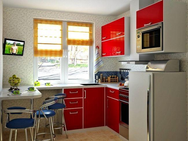 Kuhinja dizajn v hruschevke 2