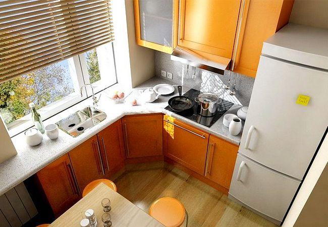 Kuhinja oblikovanja v pohištveni hruschevke