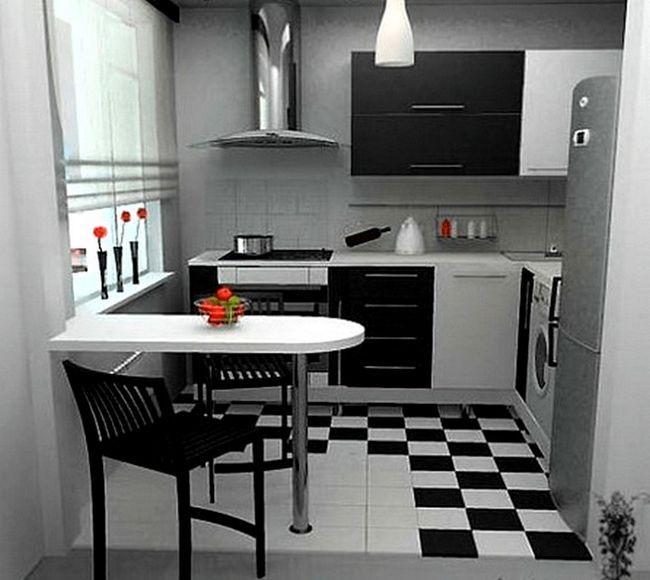 Zasnova moderno kuhinjo v Hruščov