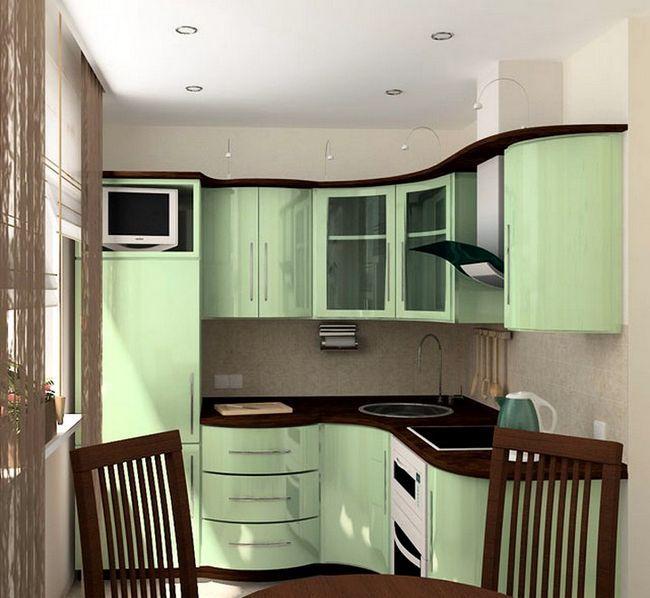 Kuhinja design v hruschevke