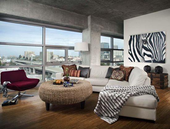 Ecostyle pri oblikovanju dnevne sobe