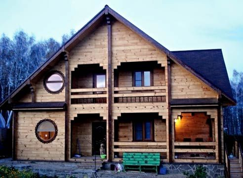 Hiša oblikovanega lesa