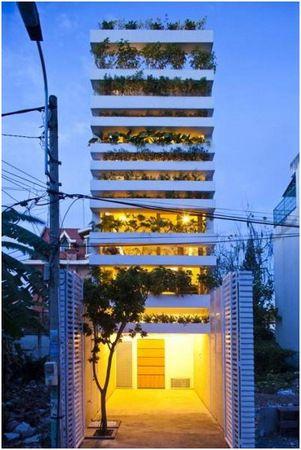 Hiša vrt v Vietnamu
