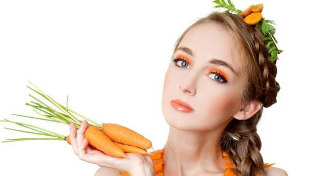 домашняя косметика, морковь, маска из моркови