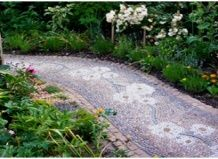 Дорожки: мозаика в сад