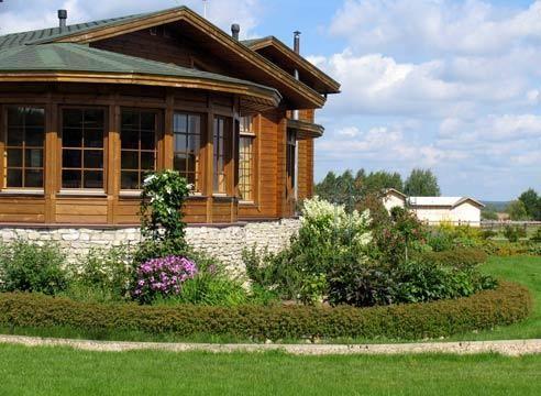 Ruski dnevnik hiša v stilu, vhod območje