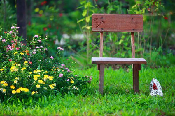 Stol, kot element za dekoracijo počitnice