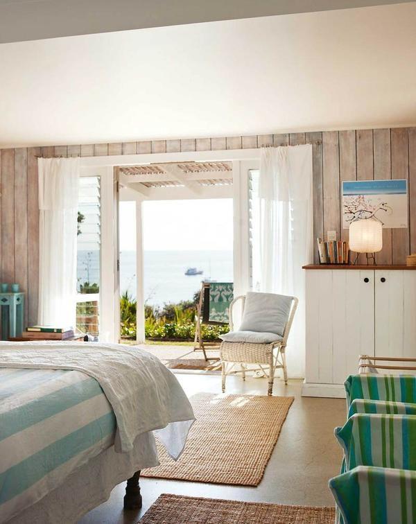Dormitor în culori pastelate în Noua Zeelandă