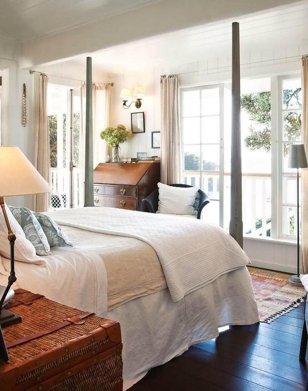 dormitor frumos în stil colonial englezesc