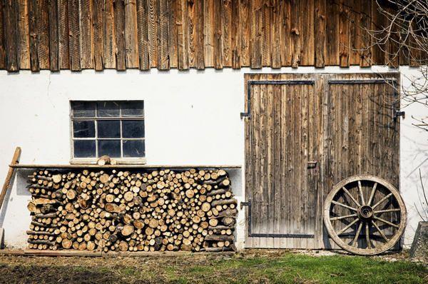 Kje in kako se za shranjevanje drv v državi