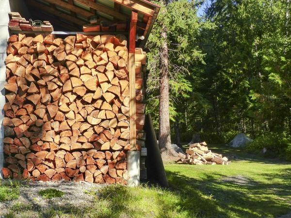 Lahko shranite lesa in pod krošnjami