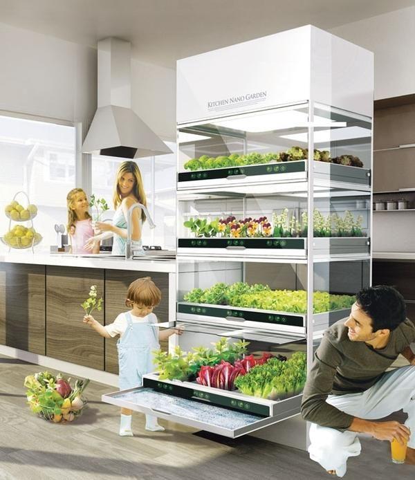 Концепт кухонного наносада от Hyundai. Фото с сайта http://favething.com