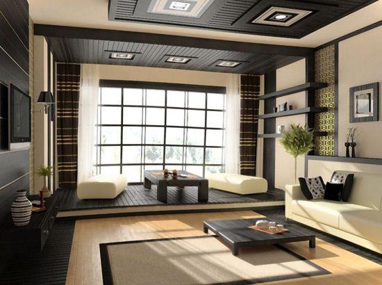 kuhinja, dnevna soba, v japonskem stilu