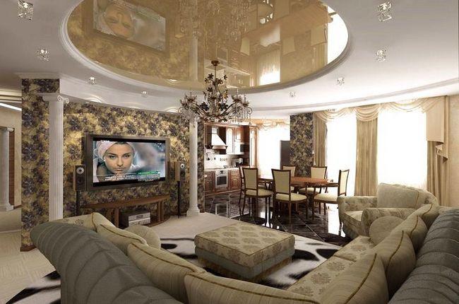 dnevna soba v klasičnem slogu fotografijo