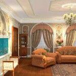 dnevna soba v klasičnem slogu Foto 18