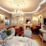 dnevna soba v klasičnem slogu fotografiji 7