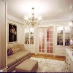 dnevna soba v klasičnem slogu fotografiji 6