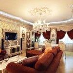 dnevna soba v klasičnem slogu fotografiji 5