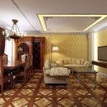 dnevna soba v klasičnem slogu fotografijo 4