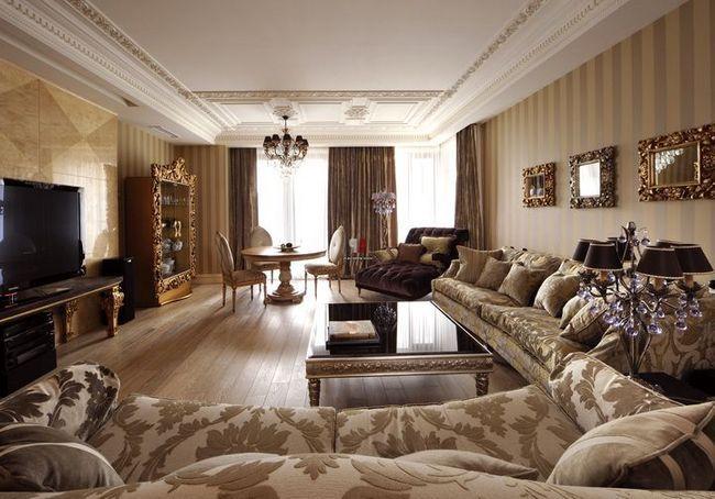 dnevna soba v klasičnem slogu Foto 27