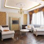 dnevna soba v klasičnem slogu fotografiji 3