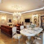 dnevna soba v klasičnem slogu fotografiji 2