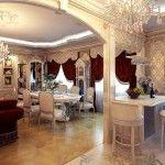 dnevna soba v klasičnem slogu fotografiji 1