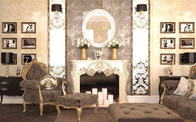 dnevna soba v klasičnem slogu Foto 26