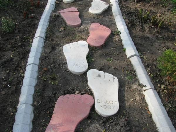 Идея для садовых дорожек