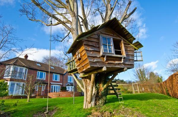 Koča na drevesu - sanje mnogih otrok