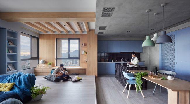 Svetlo moderno stanovanje za družine z majhnimi otroki