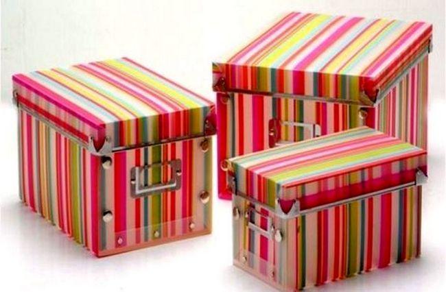 Lepe in udobne škatle z lastnimi rokami